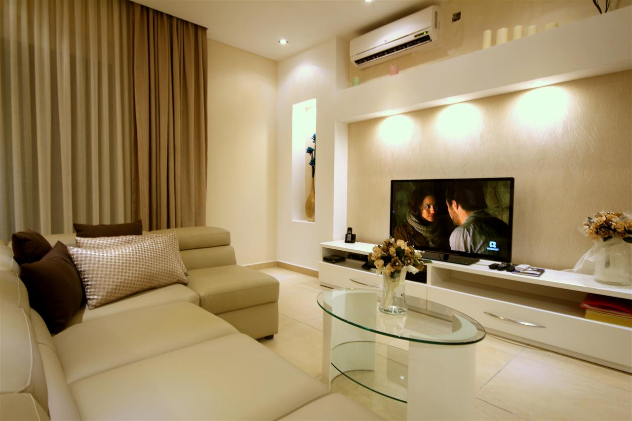 "42"" LED with comfortable sofa"